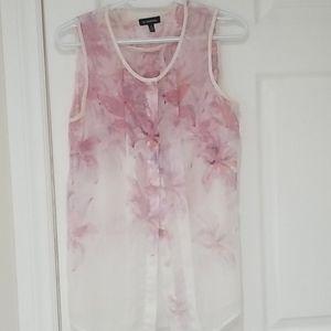 Le Chateau pink ombre floral blouse tank top